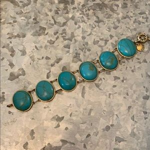 J.Crew turquoise and gold bracelet